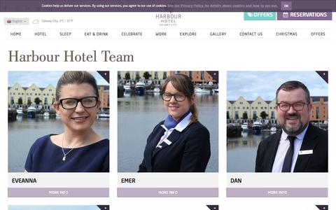 Screenshot of Team Page harbour.ie - Harbour Hotel Staff - captured Oct. 25, 2016