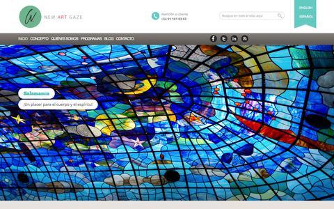 Screenshot of Home Page Terms Page newartgaze.com - Viajes, arte y gastronomía en España y Europa   New Art Gaze - captured Oct. 6, 2014