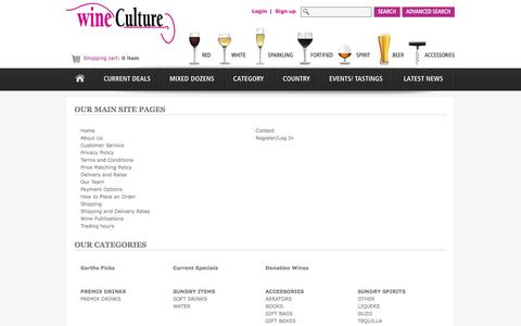Screenshot of Site Map Page wineculture.com.au - Sitemap | Wine Culture - captured Oct. 1, 2014