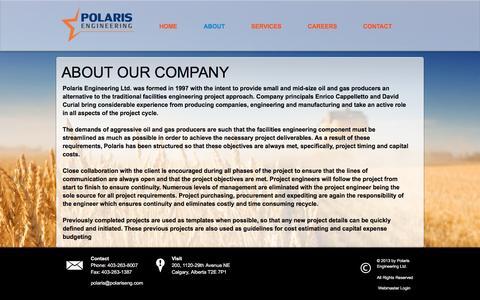 Screenshot of About Page polariseng.com - Polaris Engineering Ltd. - About - captured Nov. 8, 2016