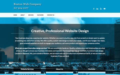 Screenshot of Home Page bostonwebco.com - Creative, Professional Website Design - Boston Web Company - captured Sept. 16, 2015
