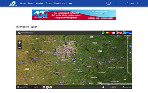 Screenshot of Maps & Directions Page nbcdfw.com - Dallas-Fort Worth Weather Maps and Interactive Weather Radar | NBC 5 Dallas-Fort Worth - captured June 21, 2017