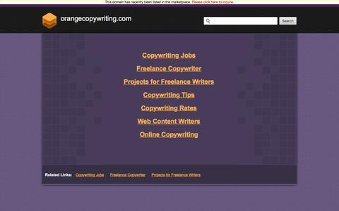 Orangecopywriting.com