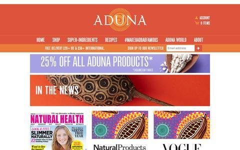 Screenshot of Press Page aduna.com - In the News – Aduna - captured Feb. 23, 2016