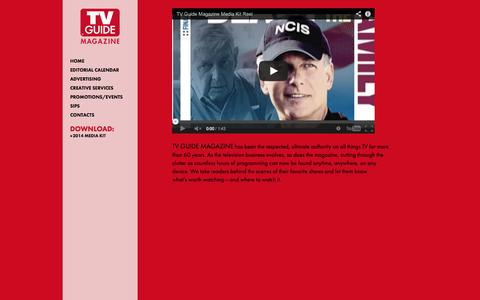 Screenshot of Home Page tvguidemagsales.com - TV Guide Magazine Media Kit - captured Sept. 24, 2014