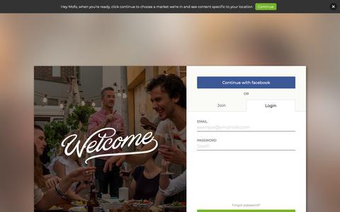 Screenshot of Login Page vinomofo.com - Buy Wine Online   Vinomofo Australia - captured Feb. 11, 2019