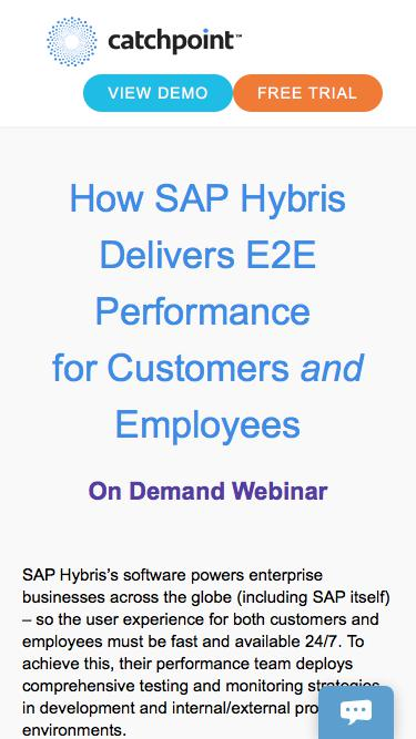 How SAP Hybris Delivers E2E Performance for Customers and Employees