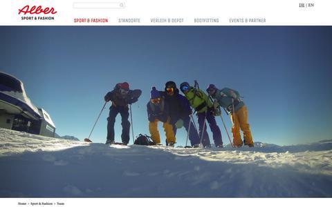 Screenshot of Team Page sport-alber.com - Team   Mitarbeiter - Alber Sport - captured Oct. 9, 2018