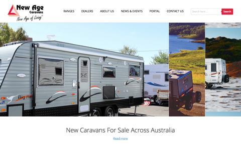 Screenshot of Home Page newagecaravans.com.au - Caravans For Sale Australia - Quality Caravan Sales | New Age Caravans - captured Oct. 9, 2014