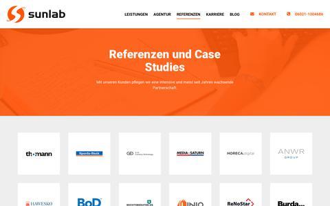 Screenshot of Case Studies Page sunlab.de - Online Marketing Case Studies » Sunlab GmbH - captured Sept. 21, 2018