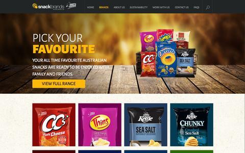 Screenshot of Products Page snackbrands.com.au - Snack Brands Australia - Brands - captured Oct. 6, 2014