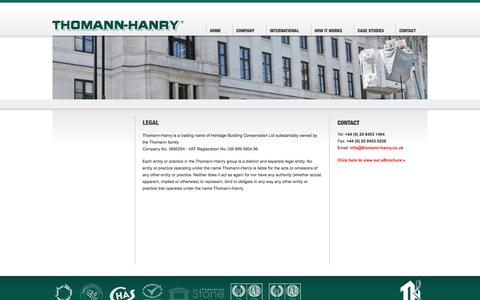 Screenshot of Terms Page thomann-hanry.co.uk - Contact - Thomann-Hanry  unique, super quick, patented, building, stone & polychromy cleaning system - captured Oct. 9, 2014