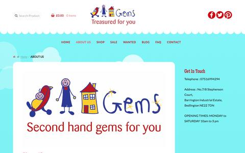 Screenshot of About Page gemsne.co.uk - About Us - Gems - captured Nov. 4, 2016
