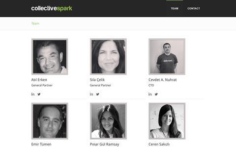 Screenshot of Team Page collectivespark.com - Collective Spark - Team - captured Sept. 30, 2014