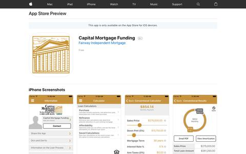Capital Mortgage Funding on the AppStore