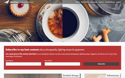 Screenshot of Home Page Menu Page ricknunn.com - Home - Rick Nunn - captured Oct. 6, 2014