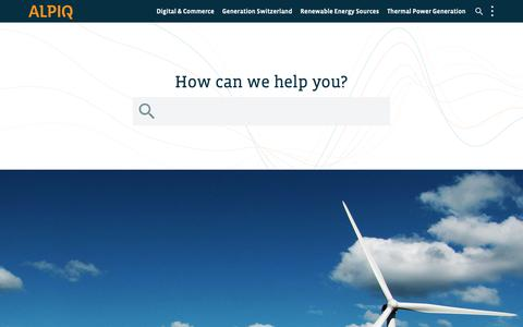 Screenshot of Home Page alpiq.com - Inspiring energy – Alpiq - captured Nov. 29, 2018
