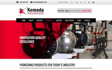 Screenshot of Products Page kemada.co.uk - Kemada - Innovative Products - captured Jan. 9, 2016