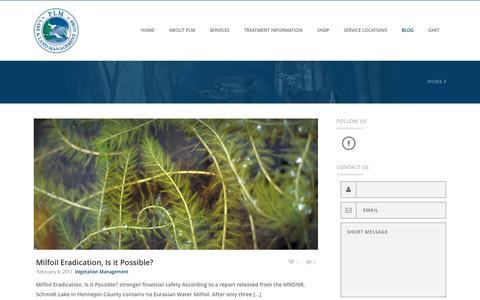 Screenshot of Blog plmcorp.net - Blog - PLM Lake and Land Management Corp. - captured Jan. 22, 2016
