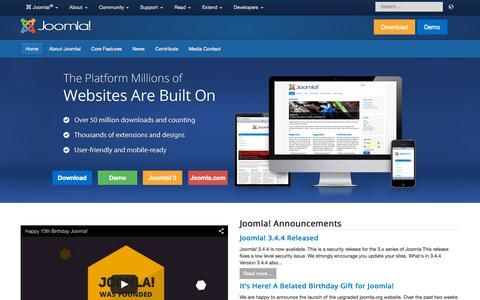 Joomla! The CMS Trusted By Millions for their Websites
