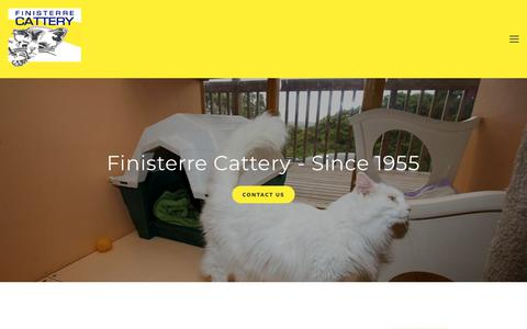 Screenshot of About Page finisterre.co.nz - About — Finisterre Cattery - captured July 1, 2018