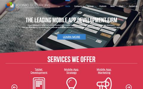 Screenshot of Contact Page iconic-solutions.com - Mobile App Development Raleigh & Atlanta   Responsive Web Design Raleigh & Atlanta   Iconic Solutions - captured Aug. 3, 2015