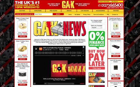 Screenshot of Press Page gak.co.uk - News - captured Sept. 19, 2014