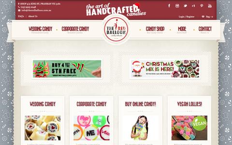 Screenshot of Home Page theredballoon.com.au - Australia's Finest Candy | Online Lolly Shop | Candy Artisans - captured Dec. 1, 2016