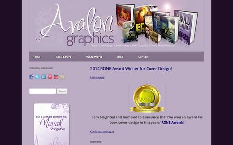 Screenshot of Blog avalongraphics.org - Avalon Graphics | Book Cover Design | Book Trailers | Web Graphics | Promotional Material - captured Sept. 30, 2014