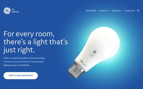 Screenshot of Home Page Terms Page gelighting.com - Home Lighting, Smart LED Bulbs & Lighting Inspiration | GE Lighting - captured April 30, 2019