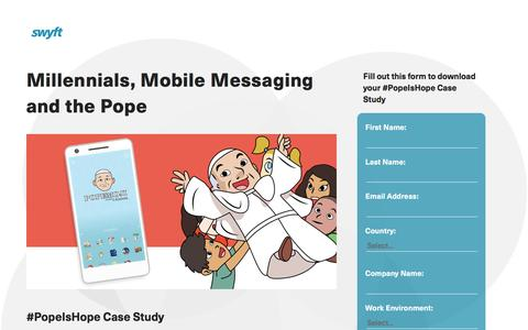 Screenshot of Landing Page monotype.com - #PopeIsHope Case Study - captured July 15, 2016