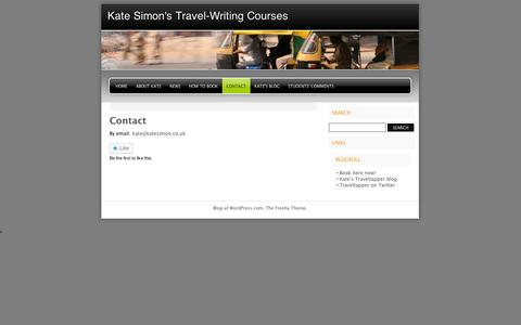 Screenshot of Contact Page wordpress.com - Contact | Kate Simon's Travel-Writing Courses - captured Sept. 12, 2014
