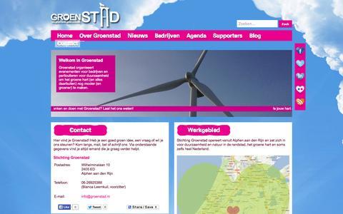 Screenshot of Contact Page groenstad.nl - Groenstad | Contact - captured Oct. 7, 2014