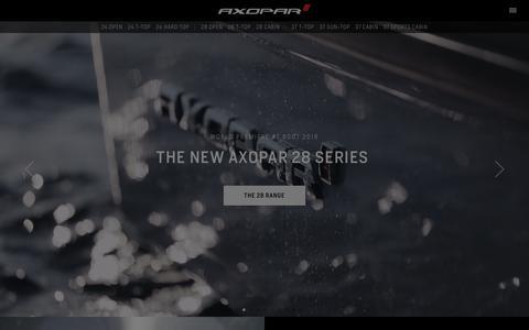 Screenshot of Home Page axopar.fi - Premium range motorboats from Finland » Axopar Boats - captured Nov. 8, 2018