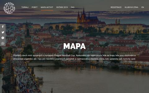 Screenshot of Maps & Directions Page phc.cz - Mapa   Prague Handball Cup - captured Oct. 22, 2018