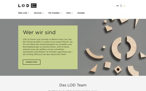 Screenshot of Team Page lodlaw.com - Flexible legal services from Lawyers on Demand - Überblick | LOD - captured July 11, 2018