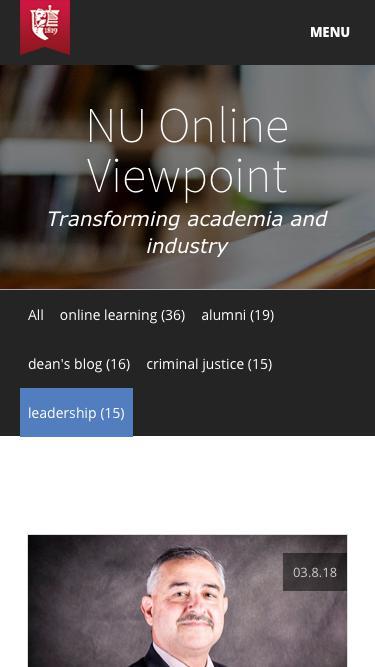 Screenshot of Team Page  norwich.edu - NU Online Viewpoint | Norwich University | leadership