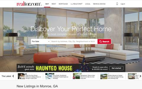 Screenshot of Home Page realtor.com - Find Real Estate, Homes for Sale, Apartments & Houses for Rent - realtor.com® - captured Oct. 19, 2015