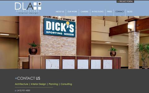 Screenshot of Contact Page dlaplus.com - Contact | DLA+ Architecture & Interior Design - captured Dec. 15, 2015