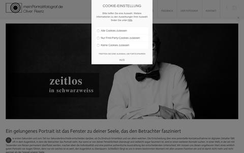 Screenshot of Home Page meinportraitfotograf.de - Portfolio Oliver Reetz - Mein Portraitfotograf - Portraitfotografie - captured July 11, 2018
