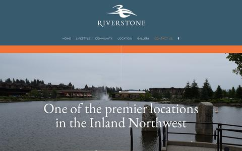 Screenshot of Contact Page riverstonecda.net - Contact Us - Premier Locations In The Inland Northwest | Riverstone - captured Sept. 21, 2018