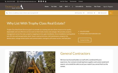 Screenshot of Services Page trophyclassrealestate.com - Services - Trophy Class Real Estate - captured Oct. 20, 2018