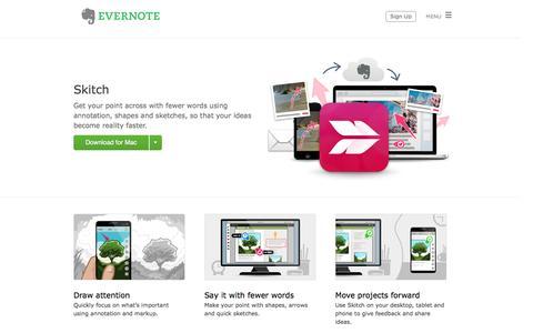 Screenshot of evernote.com - Skitch | Evernote - captured Oct. 21, 2014