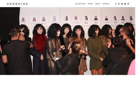 Screenshot of About Page georgine.com - GEORGINE   The Brand - captured May 12, 2017