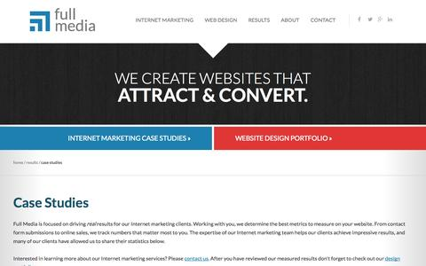 Screenshot of Case Studies Page fullmedia.com - Case Studies | Full Media - captured Oct. 30, 2014