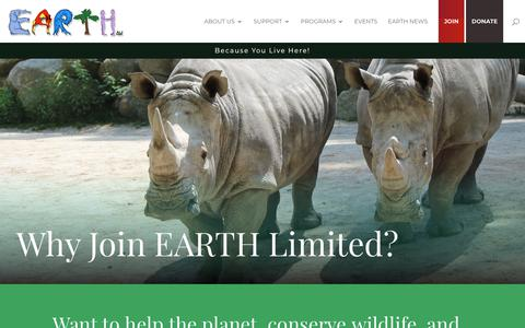 Screenshot of Signup Page earthltd.org - Join - Earth Ltd. - captured Sept. 26, 2018