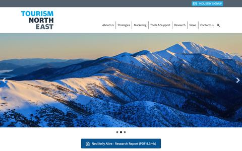 Screenshot of Home Page tourismnortheast.com.au - Tourism North East - Victoria's High Country - captured Oct. 20, 2018