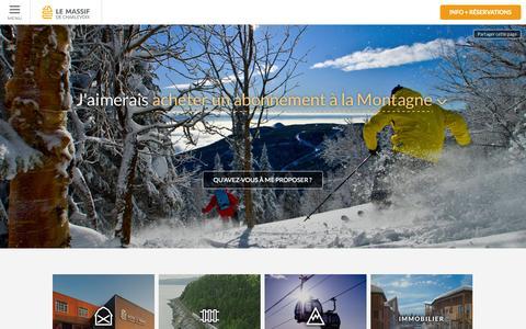 Screenshot of Home Page lemassif.com - Site officiel du Massif de Charlevoix dans Charlevoix, Québec (QC) Canada - Le Massif de Charlevoix - captured Sept. 25, 2014
