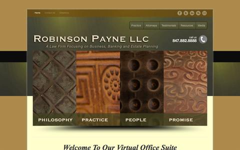 Screenshot of Home Page robinsonpayne.com - Robinson Payne LLC - A Law Firm Focusing on Business, Banking and Estate Planning - captured July 5, 2017