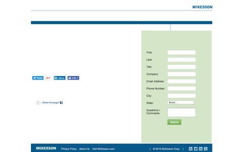 Screenshot of Landing Page mckesson.com captured Oct. 29, 2016